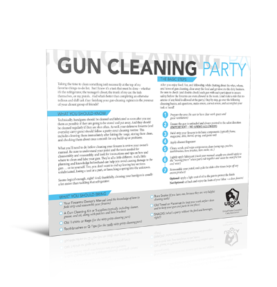 USCCA Gun Cleaning Party