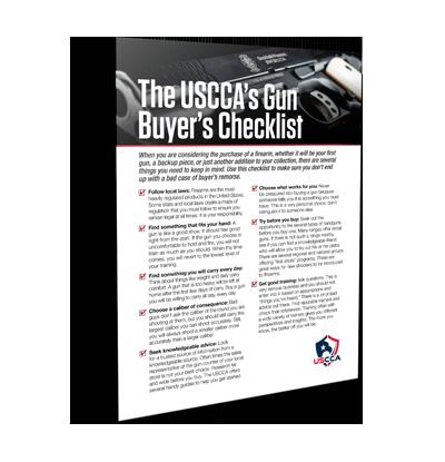 USCCA Gun Buyer Checklist