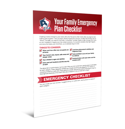 USCCA Your Family Emergency Checklist