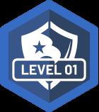 Level 01 Badge